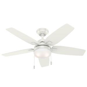 Hunter Hunter Arcot ventilátor so svetlom, biela/sivá