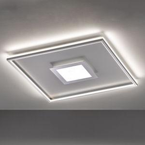 FISCHER & HONSEL LED stropná lampa Zoe, štvorcová, chrómová 80x80cm