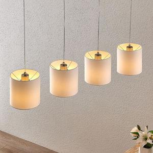 Lindby Lindby Zalia textilná závesná lampa, 4-plameňová