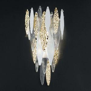 Muránske nástenné svietidlo Ice Rain s diódami LED