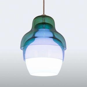 Innermost Matrioshka závesná lampa v modro-bielej