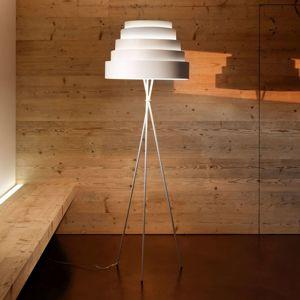 Stojaca lampa Babel trojnožka tienidlo biela
