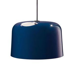 Lesklá modrá keramická závesná lampa Add