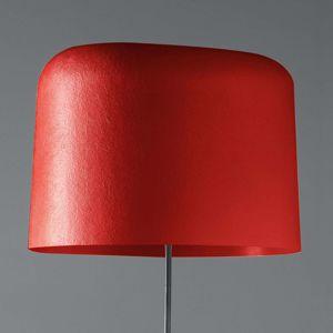 Stojaca lampa Ola sklolaminátové tienidlo červená