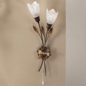 Nástenné svietidlo CAMPANA dlhá kvetina vľavo