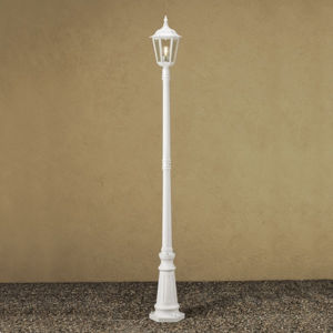 Konstmide Stĺpové svietidlo Firenze, 1-plameňové biele