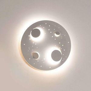 Knikerboker Buchi nástenné LED svetlo Ø 40cm biele