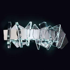 EOS nástenné LED svietidlo sklenená dekorácia