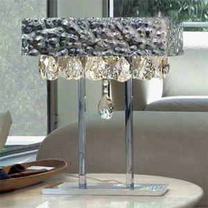 Pôsobivá stolná lampa MAGMA krištáľový záves