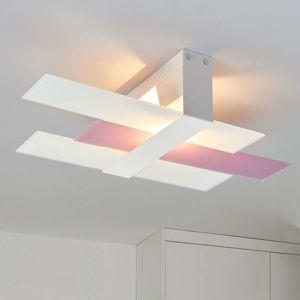 Stropné svietidlo Triad 48cm biele/fialové