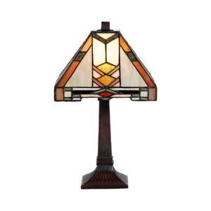 Vzorovaná stolná lampa Eliazar v štýle Tiffany