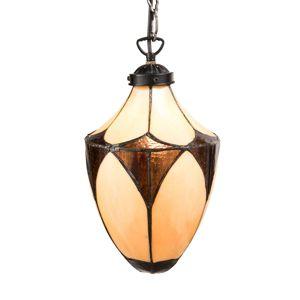 Secesná závesná lampa Olia v štýle Tiffany