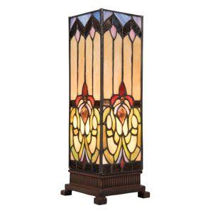 Stolná lampa 5906 s pestrým skleneným tienidlom