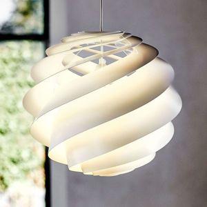 LE KLINT Swirl 3 dizajnová závesná lampa v bielej