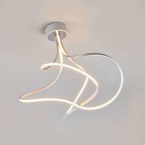 Stropné LED svietidlo Lungo, hliníkové výška 42cm