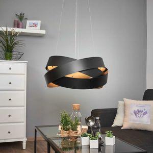 Závesná lampa Pura v čiernej