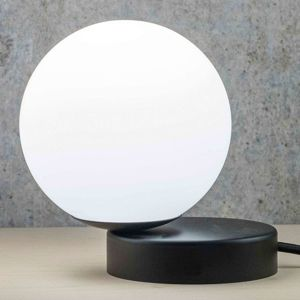 Stolná lampa Lumi okrúhla čierna