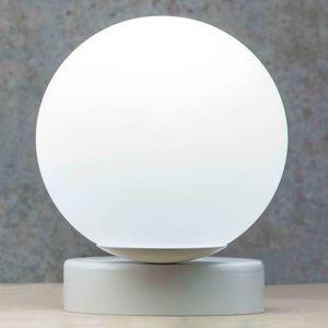 Stolná lampa Lumi okrúhla biela