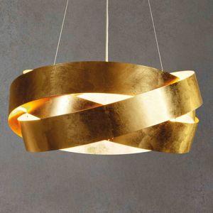 LED závesné svietidlo Pura lístkové zlato 60cm