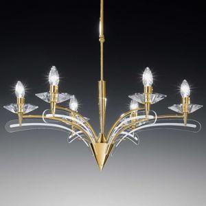 Visiaci luster ICARO 6-pl. krištáľové sklo zlatý