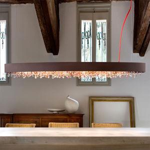Masiero Závesná lampa Ola S6 OV160 bronz teplá