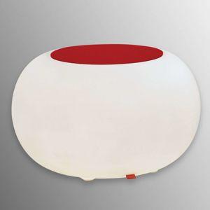 Stôl BUBBLE Indoor E27-žiarovka + plsť červená