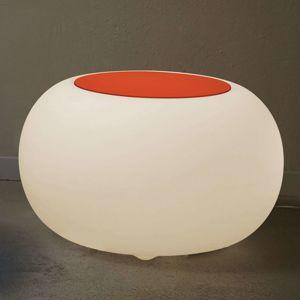 Bubble LED ACCU Outdoor stôl, poťah plsť, oranžový