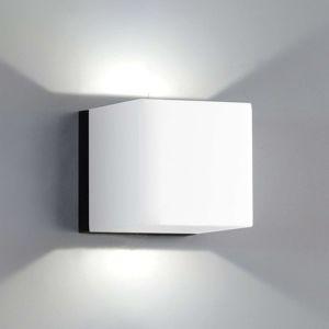 Milan Dau nástenné LED svietidlo 2-pl. biele