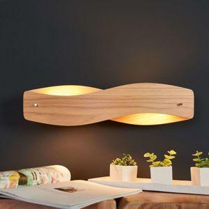 Nástenné LED svietidlo Lian prírodný dub