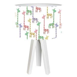 Stolná lampa Žirafa s potlačeným tienidlom Ø 30cm