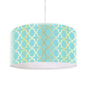 Závesná lampa Tatyana s geometrickým vzorom