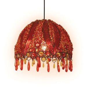 Závesná lampa Perla orientálny dizajn Ø 32cm