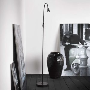 Nastaviteľná stojaca LED lampa Mento, čierna