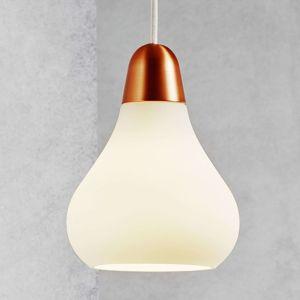 Sklenená závesná lampa Bloom, 16cm