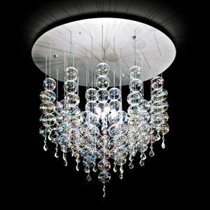 Soap závesná lampa so vznešenými sklenenými guľami