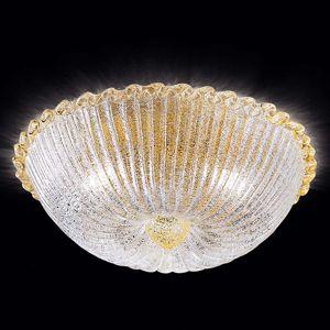 Stropné svietidlo Budino zlaté, číre 40 cm