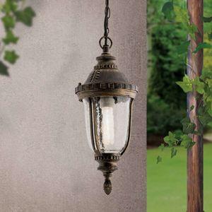 Tradičná závesná lampa PAULA štruktúrované sklo