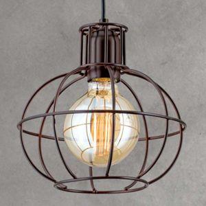 Starožitná hnedá závesná lampa Dilip