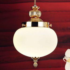 Jedno-plameňová sklenená závesná lampa Ophelia