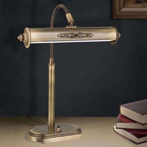 Lampa na písací stôl Picture starožitná mosadz
