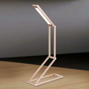 Praktická stolná LED lampa Falto batéria zlatá