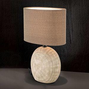 Keramická lampa Ethno 52 cm hnedá, podstavec cotto