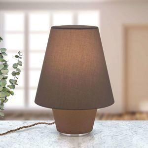 Textilná stolná lampa Dvojičky hnedá Ø 25 cm
