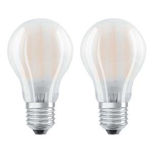 OSRAM LED žiarovka E27 4W teplá biela sada 2ks