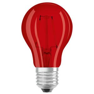 OSRAM OSRAM LED E27 Star Décor Cla A 2,5W, červená