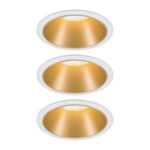 Paulmann Paulmann Cole bodové LED, zlato-biela súprava 3 ks
