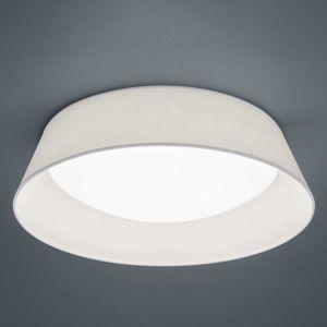 Stropné LED Ponts biele textilné tienidlo