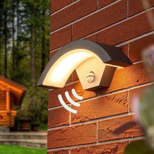 Vonkajšie nástenné LED svietidlo Jule so snímačom