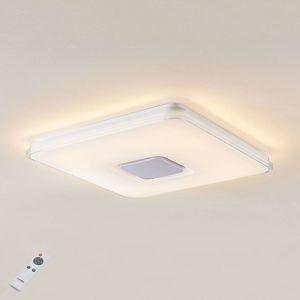 Lindby Stropné LED svietidlo Brajan 3000–5500K hranaté