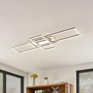Lindby Lindby Mairin stropné LED svietidlo, nikel matný